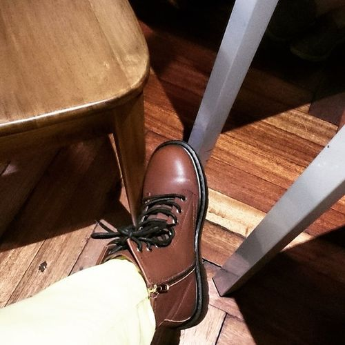 Chillin' Boots Shoes Brown Lacreperie rmdchristmasparty2014 sici workhardplayharder
