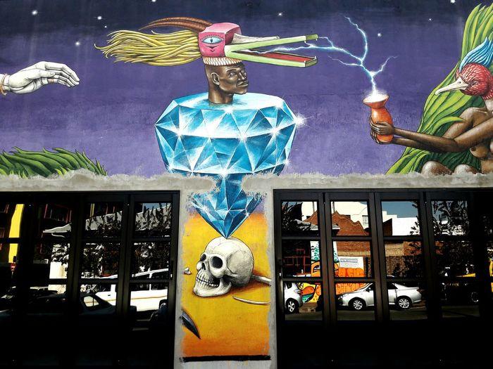 Graffiti Art Street Artstreet Johannesburg South Africa Maboneng Precinct