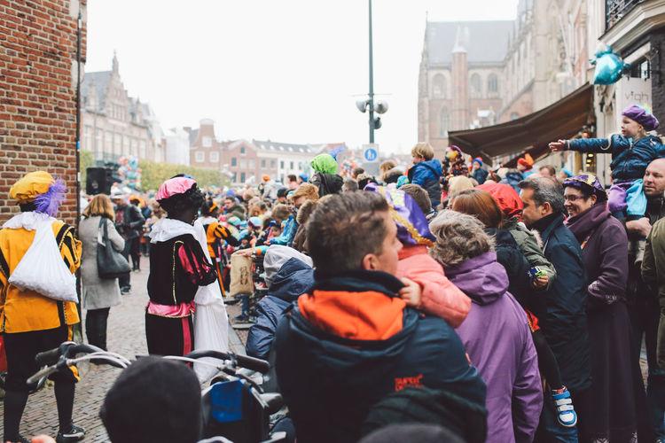 City City Life Crowd Day Festival Festival Season Grote Markt Large Group Of People Men Netherlands Outdoors People Real People Saint Nicholas Sint-Nicolaas Sinterklaas Zwarte Piet