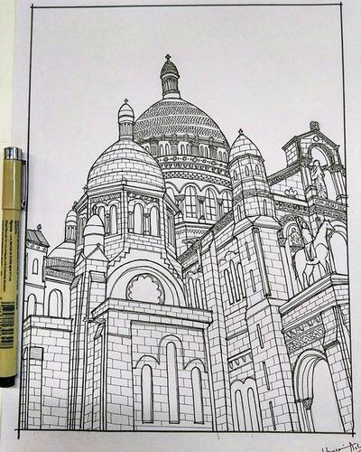 First detailed sketch. Arqsketch OFFICEDAIRY Classical Architecture Mumbai India