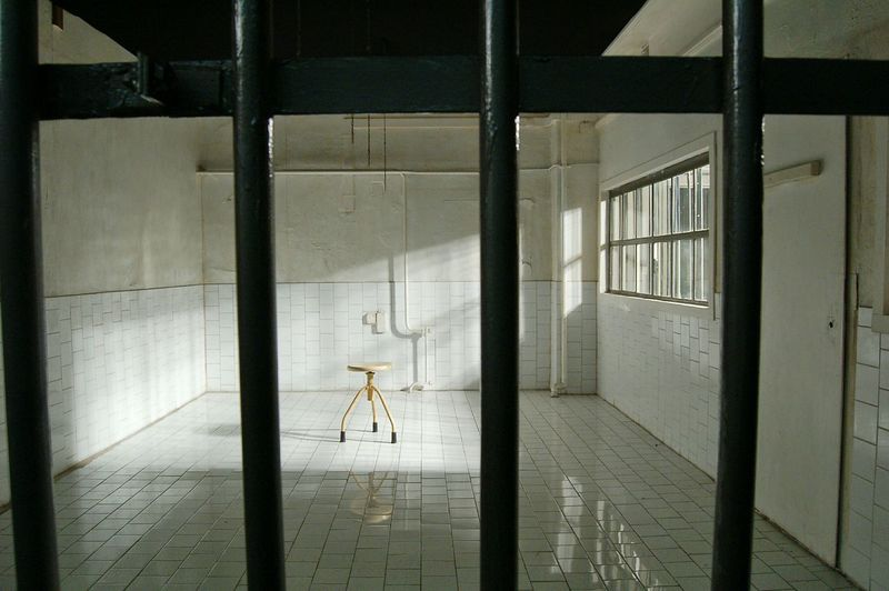 Stool in prison cell
