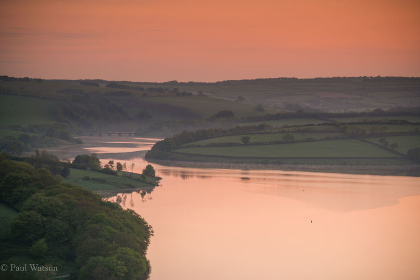 Exmoor National Park Early Morning Golden Hour Landscape_photography No People Resevoir Rural Scene Sunrise Water