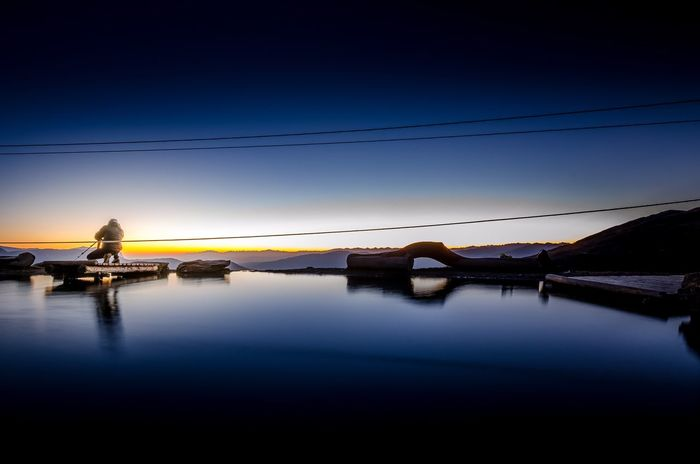 Finding colors Plose Brixen  Bressanone Alto Adige South Tyrol Südtirol Dolomites Dolomiti Mountain Lake Photographer Reflection Sunset Water Sky Nature Blue Outdoors Tranquil Scene Cable Tranquility Beauty In Nature
