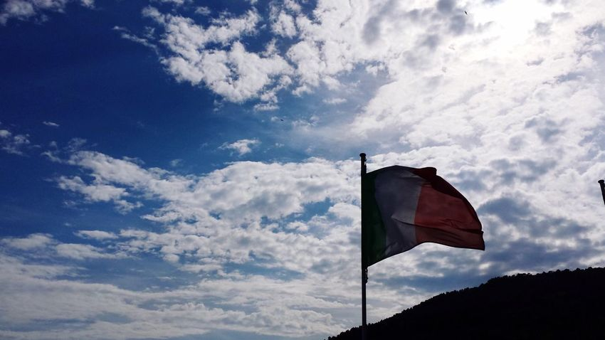 Flag Low Angle View Cloud - Sky Sky Patriotism No People Day Outdoors Italy Italia Bandiera