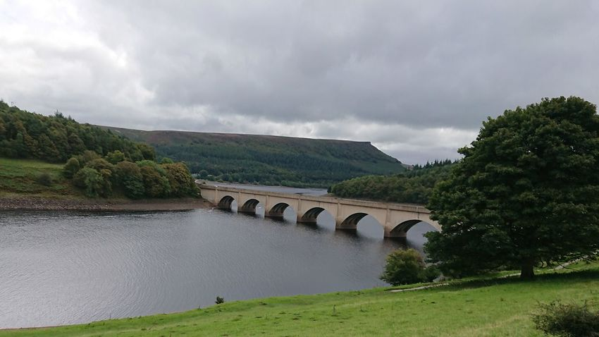 Peak district reservoir Architecture Arch Landscape Built Structure Bridge - Man Made Structure Cloud - Sky History Tranquility Travel Destinations Tree Nature Scenics Day River Outdoors Water No People Beauty In Nature Fog Mountain Beauty In Nature Grass Road Growth Sky