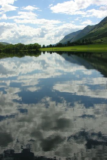 Reflection Water Lake Nature Backgrounds Landscape Reflection Lake Outdoors Cloud - Sky Caledonian Canal Loch Ness