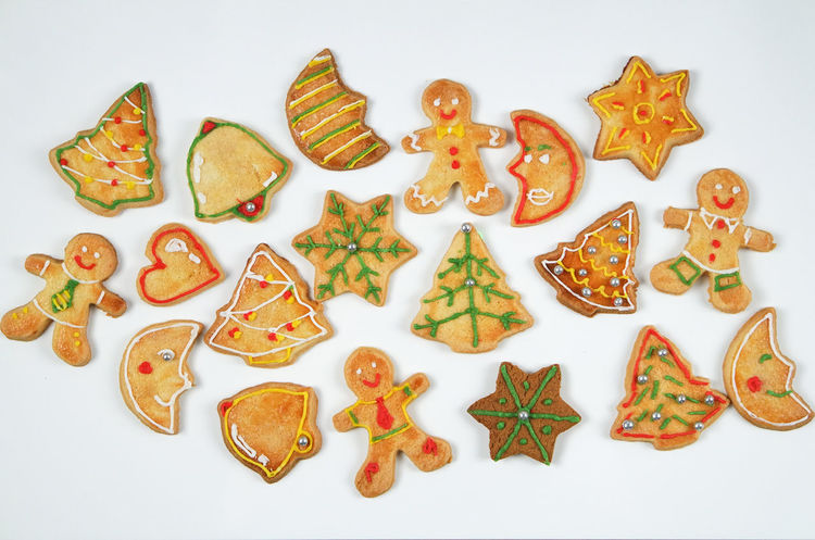 Christmas Cookies Cookies Frosted Traditions Christmas Ornament Christmas Tree Christmascookies Cookie Decorated Cookies Flat Lay Gingerbread Gingerbread Cookie Gingerbreadman Holiday Spirit Holidayseason Minimal Snowflake Starshape Sweet Food White Background
