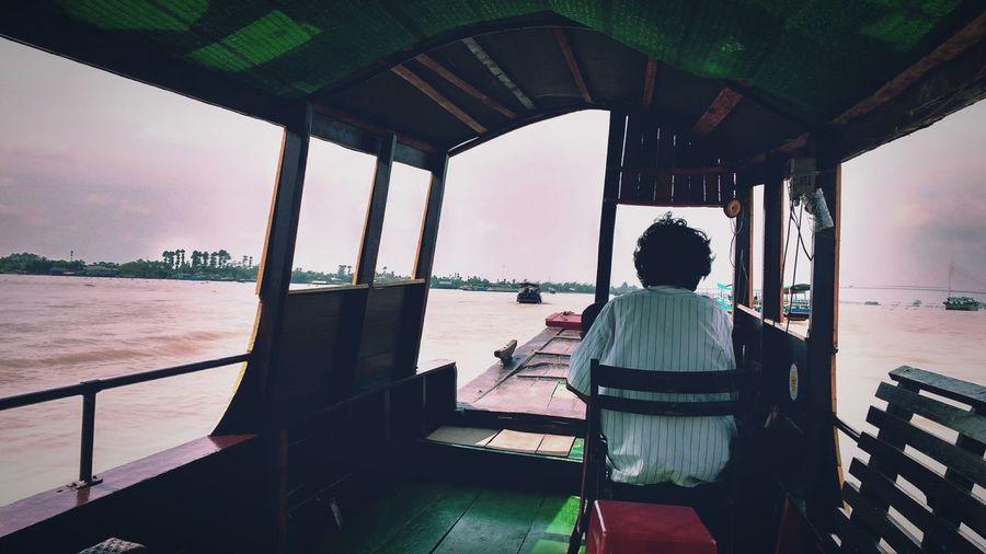 Rear View Of Man In Vietnam