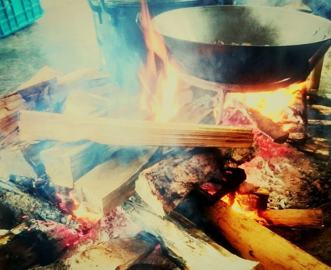outdoor cooking Cookingwithfire Family Coldweather Keepingwarm Wood Bonfire Traditionalway Buguias Philippines Stew Provincelife Food Stories