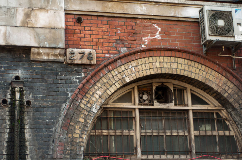 278 Air Conditioning Brick Wall London Architecture Bars Brickwork  Building Exterior Built Structure Close-up Day Leak No People Old-fashioned Outdoors Pipe Unseen London