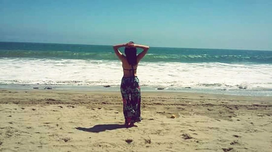 Beach Only Women Sea Peru Mancora Horizon Over Water Travel Destination This is the moment, dream!