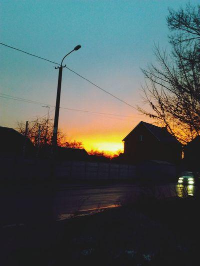 Sundown Evening Walk Beauty