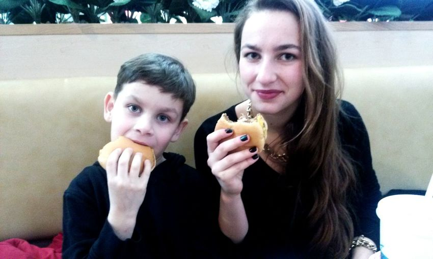 I and my brother Relaxing eat