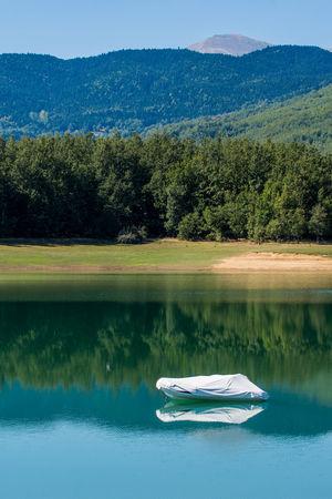 Plastira Lake in Karditsa, Greece Plastira Lake, Karditsa Beauty In Nature Day Lake Mountain Nature No People Outdoors Plastira Lake Scenics Sky Water