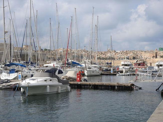Boat Human Settlement Malta Marina Mast Mode Of Transport Moored Nautical Vessel Outdoors Sailboat Sea Tourism Transportation Travel Vacation Weekend Activities