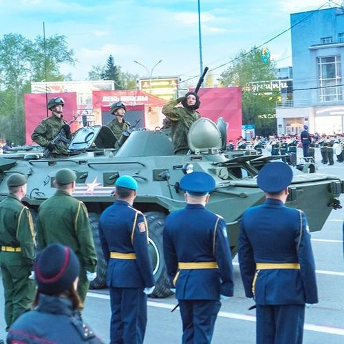 9мая Новосибирск Siberia парад солдаты ДеньПобеды военнаятехника Novosibirsk War Parade F4F Army Soldiers Military Troops