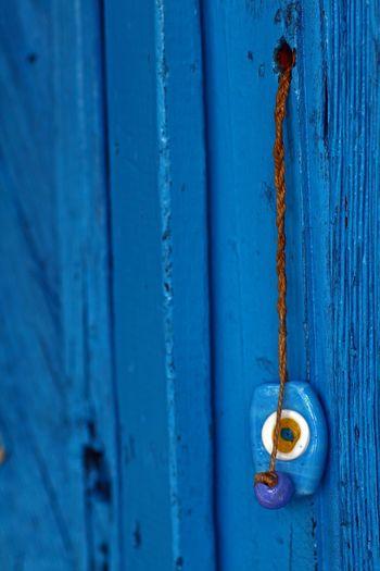 Wooden Door Old Wooden Door Blue Bead Evil Eye Evil Eye Beads Old Buildings Sirince Sirincevillage