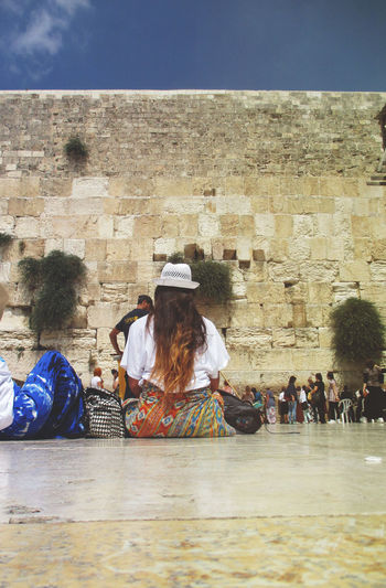 #israel #jerusalem Brick Wall Day Lifestyles Sitting