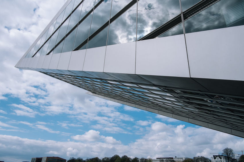Hamburg Architecture Building Exterior Built Structure City Cloud - Sky Day Dockland Hamburg Hamburg Harbour Low Angle View Modern No People Outdoors Sky