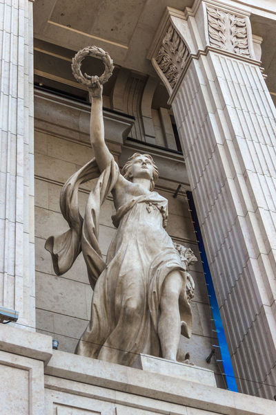 Sculpture at the entrance to the mall. Architecture Building Exterior Day Façade Low Angle View No People Outdoors Sculpture Statue Travel Travel Destinations