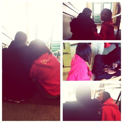 My View Today After School... Tiderrica And Terry Sprung Asses