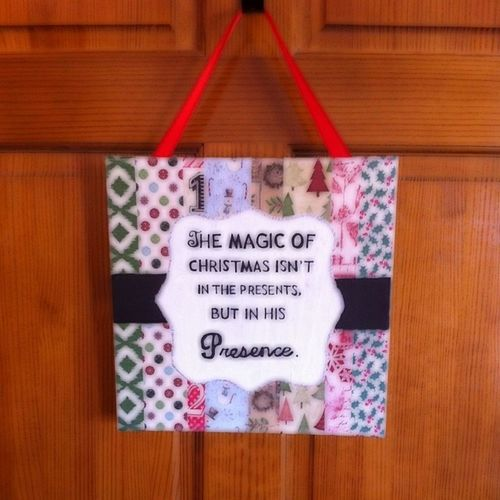 Hung on my Office door. Created by @becswalters! Zitrr Art Christmas