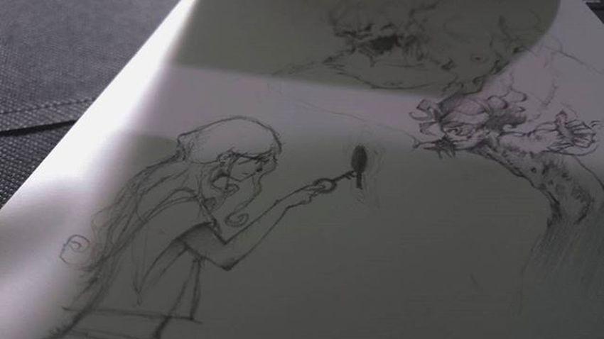 Random sketch of the day Evilblackdrawingbook Doodle