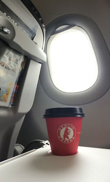 …enjoying a Cappuccino before Take-Off! Berlincoffee LH193