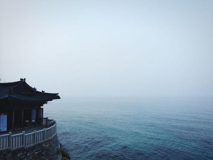 Temple Korea Sea Landscape Blue Sky Travel The Traveler - 2015 EyeEm Awards