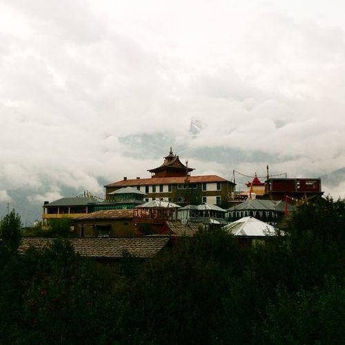 Fort and Monastery at Kalpa Kalpa Monastery Fort Kinnaur ReckongPeo Onthewaytoroghi Kinnerkailash Kinner Kailash Himachal Himalayas Lonetraveller Wanderer HighMountains Xperiaz Ankitdogra