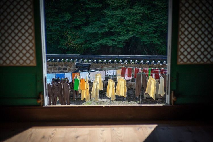 Buddhist Monk's Robe Buddist Temple Drying Clothes Colorful clotheslines One Fine Day