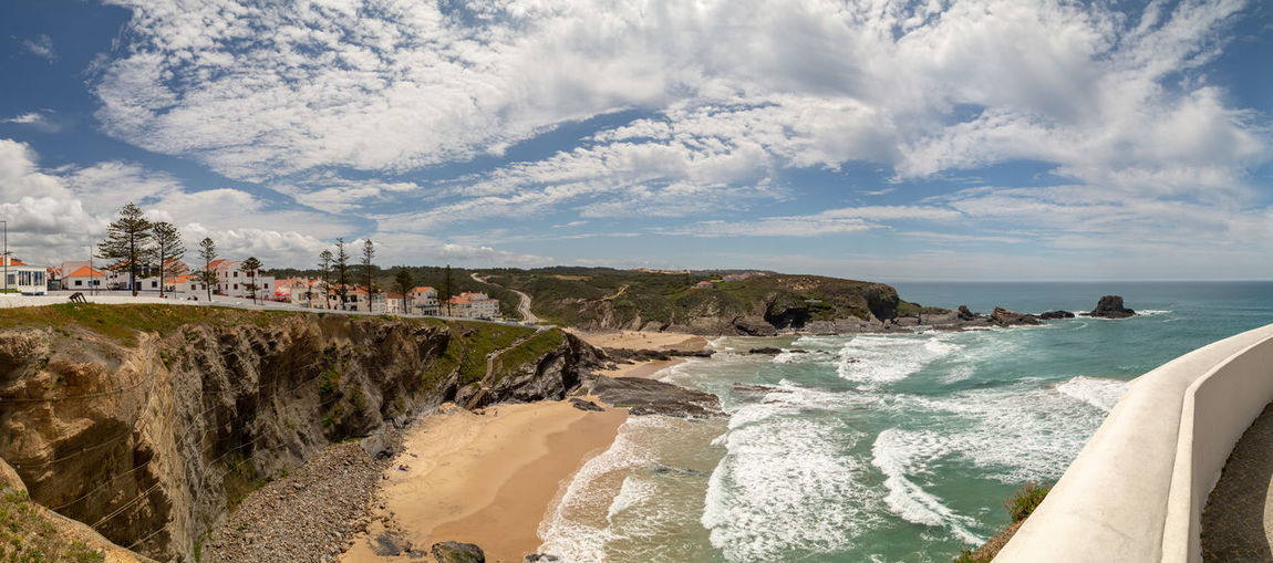 West Coast of Portugal, Zambujeira do Mar Alentejo Portugal Outdoors Travel Rock Coastline Motion Built Structure Scenics - Nature Architecture Beauty In Nature Day Beach Land Nature Cloud - Sky Sea Sky Water Travel Destinations Costa Vicentina