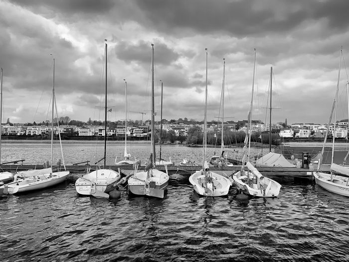 Yacht Club. Photooftheday Photography EyeEm Best Edits EyeEm Best Shots EyeEmBestPics EyeEm Gallery EyeEm Selects Nature Photography Nature_collection Close-up Capture Check This Out Blackandwhite Photography Blackandwhite Cloud - Sky Sky Water Transportation Nautical Vessel Mode Of Transportation Nature Sea No People Sailboat Mast Day Harbor Outdoors Yacht Marina