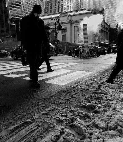 City Street City Life People Outdoors Winter Blackandwhite TheMinimals (less Edit Juxt Photography)