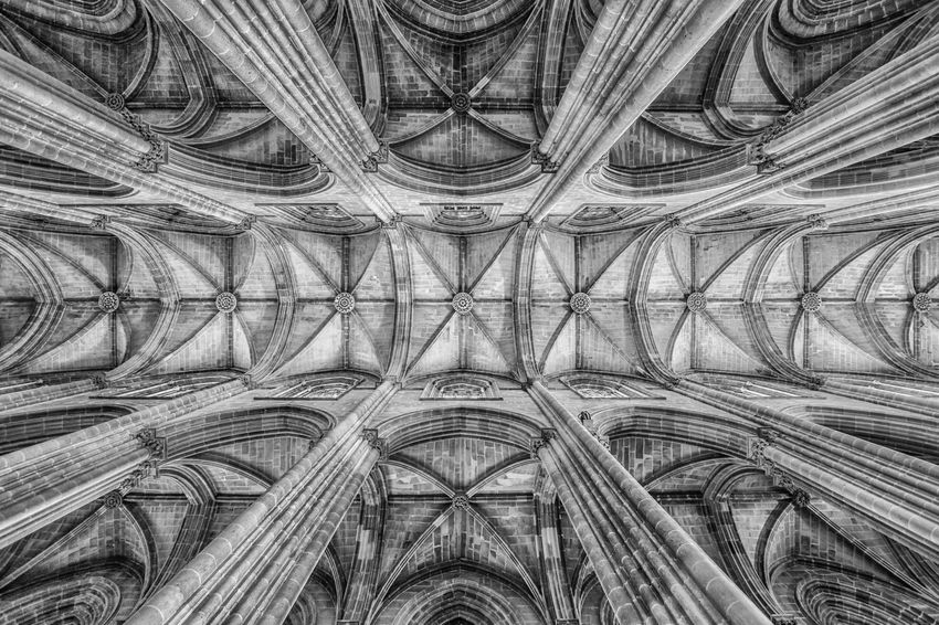 Texturas!! #blackandwhite #church #photography #symmetry #texture #wideangle Architecture Backgrounds Close-up Day Indoors  Low Angle View No People Pattern