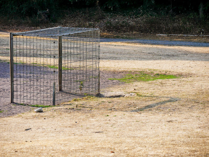 URBANANA #urbanana: The Urban Playground Absence Available Light Barrier Boundary Day Fence Field Gate Grass Land Landscape Nature No People Outdoors Plant Protection Safety Security Sport Streetphotography Wire Wire Mesh