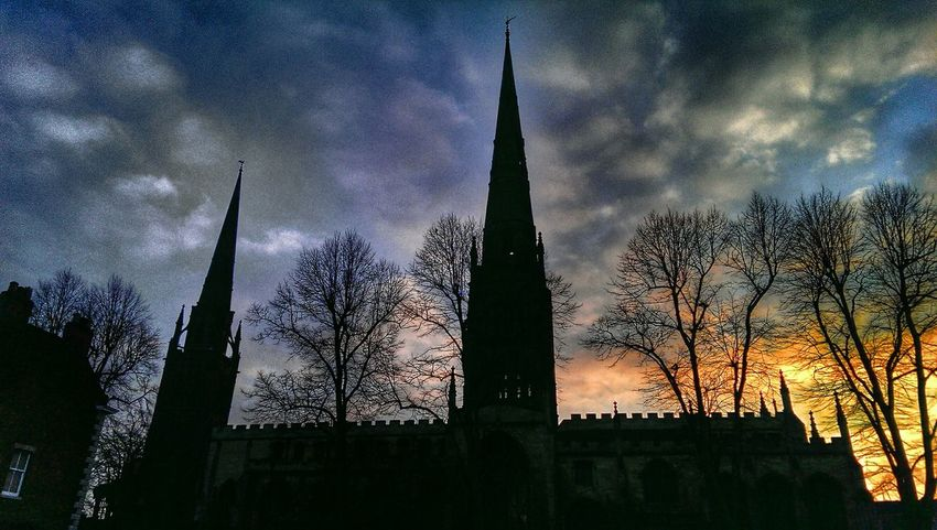 Night Sky Light In The Darkness Where There Is Light, There Is Love. Getting Inspired Sunset #sun #clouds #skylovers #sky #nature #beautifulinnature #naturalbeauty #photography #landscape Silouette & Sky Winter Trees Spires HTC One Hanging Out