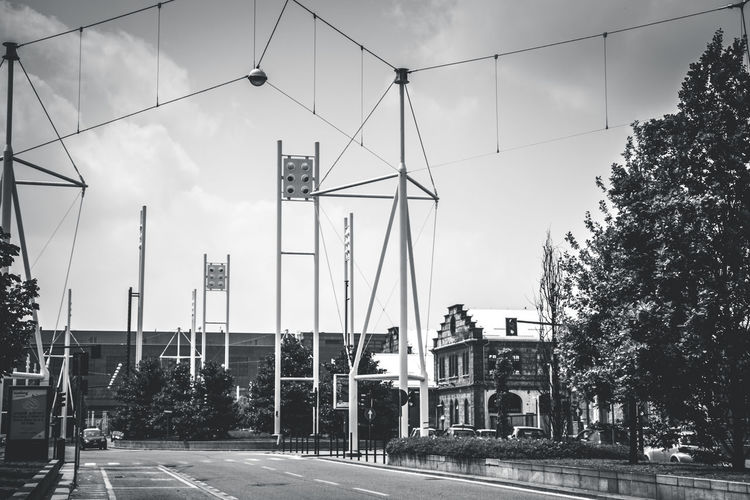The beautiful old and new Torino Building Exterior Cable Car Cityscapes Clear Sky Corso Lione Torino Lighting Equipment Officine Grandi Riparazioni Ogr Torino Road Street Street Light Torino Torinomaivista Urban