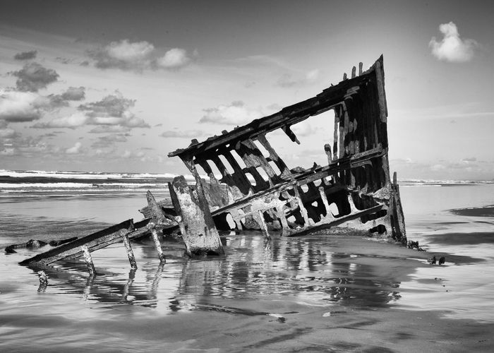 Abandoned Damaged Sky Water Wreck Obsolete Sea Destruction Nautical Vessel No People Beach Cloud - Sky Outdoors Nature Day Sinking Subaru Subaru Crosstrek Canon Canonphotography Canon5D Shipwreck Peteriredale Beachphotography Oregon Coast