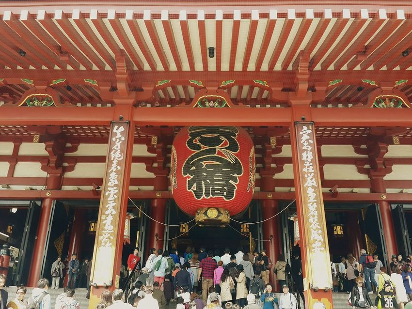My holiday in Japan Cityscapes Asakusa Kannon Temple Taking Photos People Photography today nice weather in Japan Nice Picture 😉👌