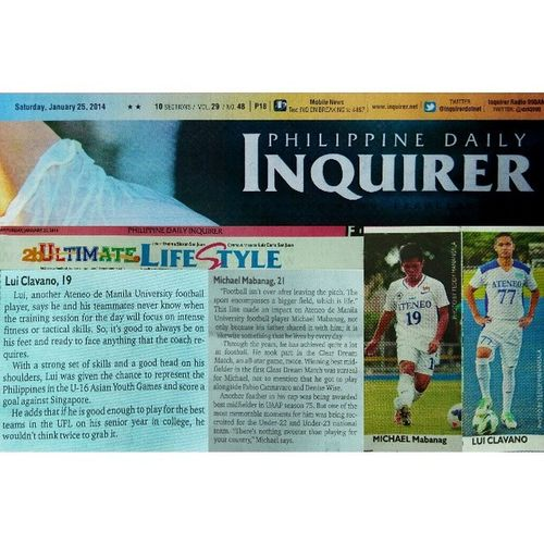 AMFT's Mikko Mabanag and Lui Clavano in today's PDI feature @19mikko @luiclavano Uaap76 Pdi Feature Bootspotting football themanansala sbspotlight