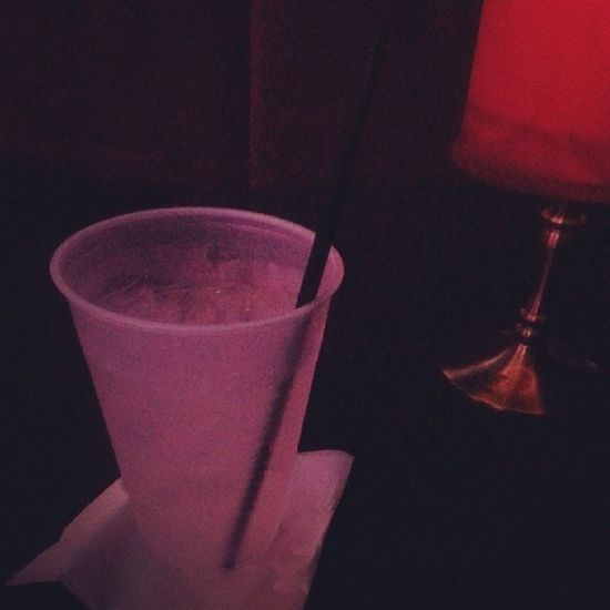 I drink water at the lounge Yee