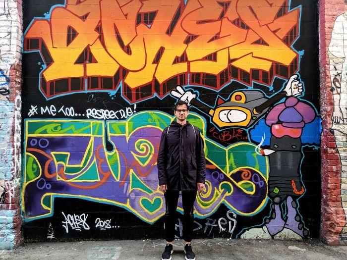 City Multi Colored Street Art Graffiti