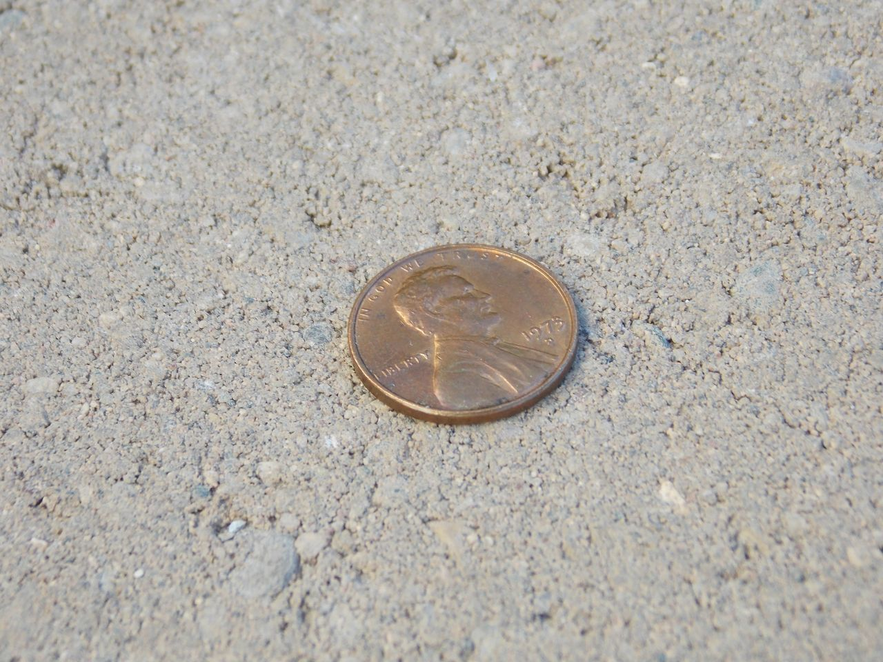 no people, day, high angle view, sand, beach, close-up, coin, outdoors, nature