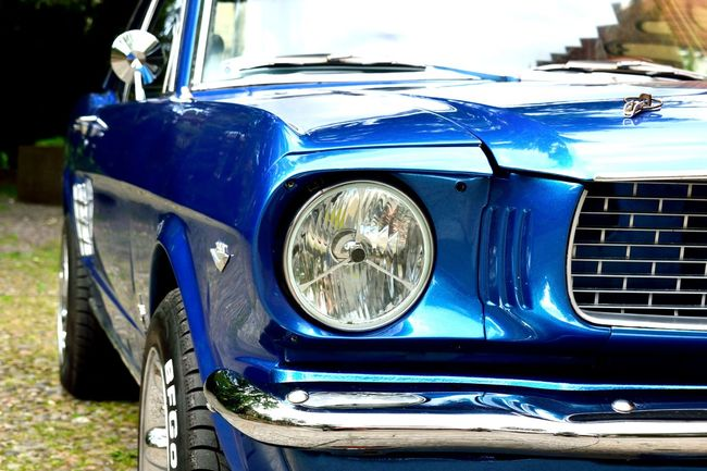 Car Close-up Day Front View Headlight Land Vehicle Mode Of Transport No People Old-fashioned Outdoors Transportation First Eyeem Photo EyeEmNewHere Mustang Ford Mustang Muscle Cars Vehicle Light Transport