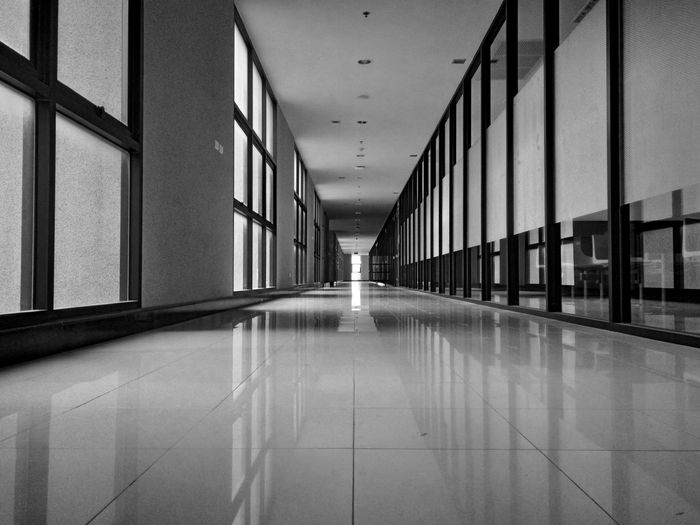 |03.03.16| School Collection - The Hallway. Corridor Hallway Blackandwhite Photography Assumption University Thailand Showcase March