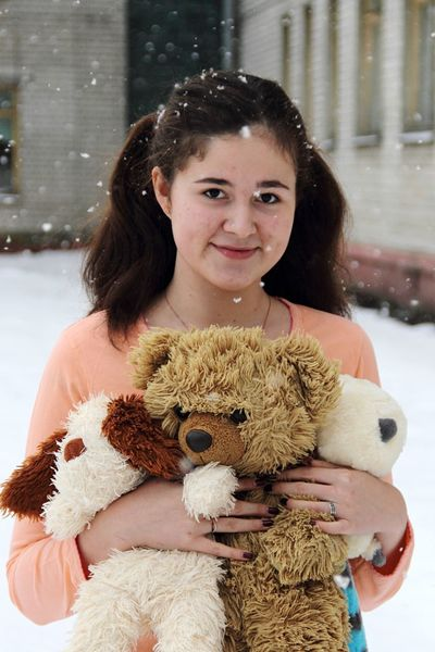 Teddy Bear Waist Up Child Portrait Childhood Stuffed Toy One Person Smiling Friendship Outdoors People Young Adult Human Body Part Adult Day