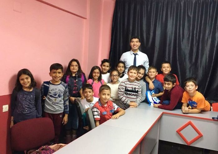 Currently I'm working as an part time in American Culture Uşak, Turkey and here's my Lovely Class ❤️🎈 Smiling Girls Boys Family Looking At Camera Large Group Of People Elementary Age Happiness Childhood School Educator Indoor
