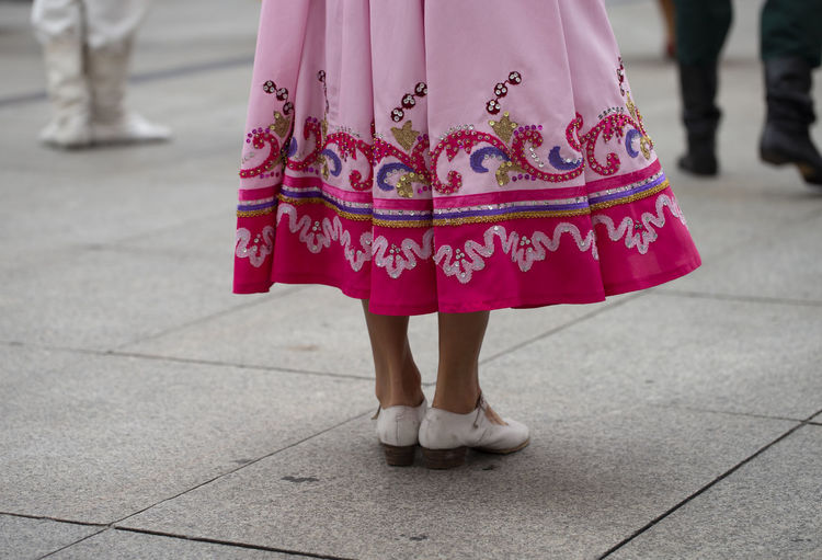 Russian folk dance group Asturias Dance Music Pink SPAIN Sunny Woman Body Part Day Folk Folklore Leisure Activity Lifestyles Low Section Outdoors Performance Real People Russian Skirt Street Summer Traditional Clothing Women