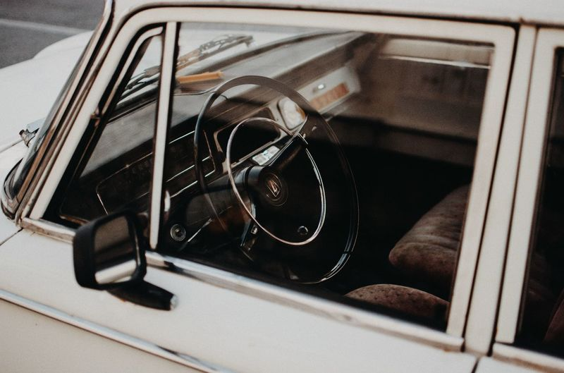 old car interior EyeEm EyeEm Best Shots EyeEmNewHere EyeEm Gallery Eyeem Market Illuminated Life Outdoors Day Texture EyeEm Selects Focus On Foreground Close-up Stationary Vintage Car Collector's Car Side-view Mirror Vehicle Mirror Convertible Grille Vehicle Hood Headlight Motor Scooter Parking Lot Laundromat Parking Washing Machine Land Vehicle Car Vehicle